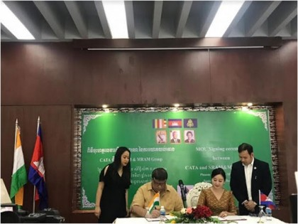 CATA and SRAM & MRAM Sign Historic Agreement To Perform Prayers At  Kulan Mountains In Cambodia