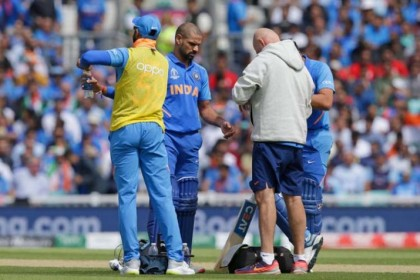 Shikhar Dhawan handed 3 weeks rest from world cup matches due to finger injury
