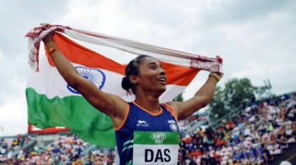 Hima Das bagged her second gold in a week