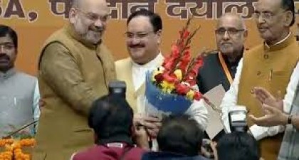 Jagat Prakash Nadda has been elected the new president of the BJP