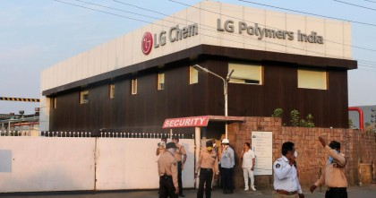 South Korean officials of L G Polymers visit Vizag plant